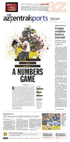azcentral sports // 8.27 #Newspaper #GraphicDesign #Layout