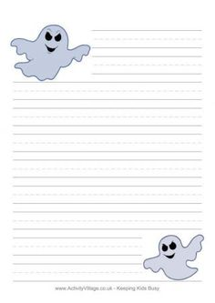 Halloween Writing Paper Template  Printable Writing Paper