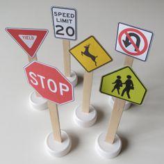 Printable road signs - for Hotwheels or Tonka Trucks!