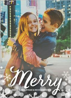 Merry Bokeh Christmas Card