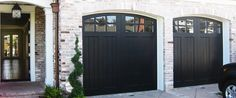 Love the black garage doors - Cityscape Garage Doors - Garage door repair Orange. - Love the black garage doors – Cityscape Garage Doors – Garage door repair Orange County, CA - Black Garage Doors, Garage Door Paint, Garage Door Colors, Carriage Garage Doors, Garage Door Windows, Modern Garage Doors, Garage Door Styles, Garage Door Repair, Exterior House Colors