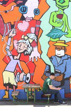 USA, Oregon, Portland, North Williams, mural ©Ludovic Maisant