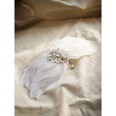 Choies White Jeweled Crochet Flower Embellished Faux Feather Hair Clip ($9.99) ❤ liked on Polyvore featuring accessories, hair accessories, white, jewel hair clips, white hair clips, white hair accessories, feather hair clip and crochet hair accessories