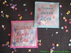 DIY tuto Cartes de voeux surprise confettis