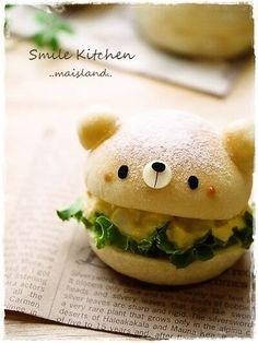 Creative Sandwich Ideas bear sandwich