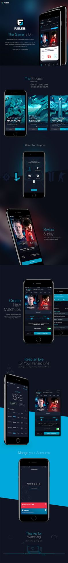 Flwless eSport Betting App UI