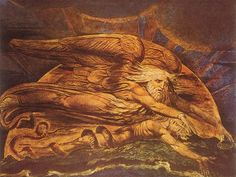 Elohim Creates Adam by William Blake, circa 1795.