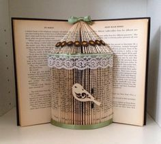 A personal favourite from my Etsy shop https://www.etsy.com/uk/listing/190839174/birdcage-folded-book-customised-with