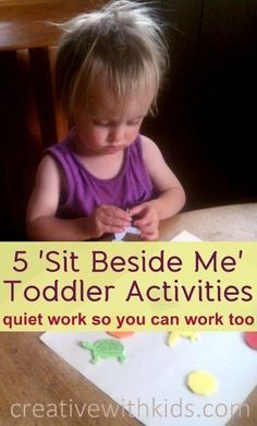 5 (somewhat) Quiet Toddler Activities – Ideas for Independent Play. Great ideas for busy moms to keep toddlers occupied.