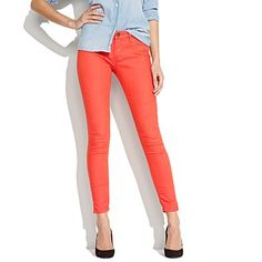 Coral and denim!!