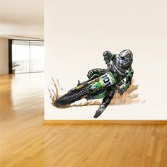 Full Color Wall Decal Sticker Dirt bike Moto Motorcycle Motocross Dirty col297