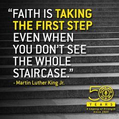 Take the first step! #MartinLutherKingDay #MotivationMonday