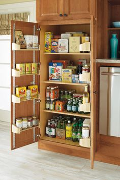 Eight Adjustable Racks And Four Reduced Depth Shelves Provide Easy Access To Stored Items Pantry Storagestorage Cabinetskitchen