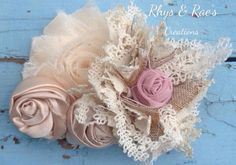Hey, I found this really awesome Etsy listing at https://www.etsy.com/listing/197152101/dusty-rose-pink-champagne-cream-rosette