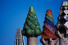 Chimney Pots of Palau Guell by Antonio Gaudi Search Results