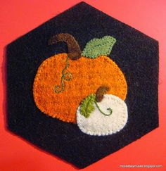Stitching Society Hexagons pumpkins