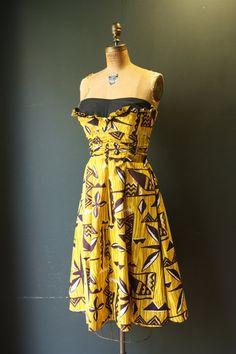 92091cd93cb0 RESERVED TikI Summer Dress / 50 Dress / 1950s Hawaiian Dress Hawaiian Wear, Vintage  Hawaiian
