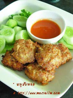 Thai Menu, Authentic Thai Food, Dessert Recipes, Desserts, Thai Recipes, Pork, Foods, Meat, Drinks