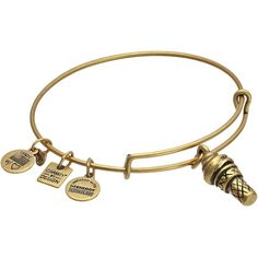 Alex and Ani Charity By Design Sweet Treats Ice Cream Cone Bangle... ($28) ❤ liked on Polyvore featuring jewelry, bracelets, alex and ani bangles, alex and ani jewelry, charm bracelet bangle, bracelets & bangles and bangle charms