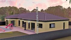 4 Bedroom House Plan – My Building Plans South Africa Round House Plans, Tuscan House Plans, Dream House Plans, House Floor Plans, Home Design, Single Storey House Plans, 5 Bedroom House Plans, House Plans With Pictures, Bedroom Decor Lights