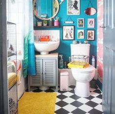 58 Trendy home design plans indian my dream house Modern Small Bathrooms, Bathroom Design Small, Bathroom Interior Design, Beautiful Bathrooms, Bathroom Ideas, Bathroom Designs, Small Bathroom Inspiration, Colorful Bathroom, Bathroom Art