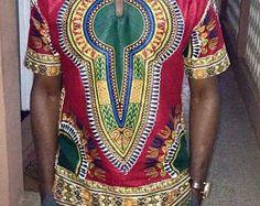 Vêtements africains hommes haut et bas tissu africain tissu