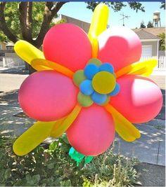 Flor en Globos