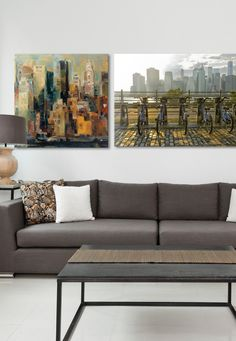 Brooklyn Promenade and New York Canvases
