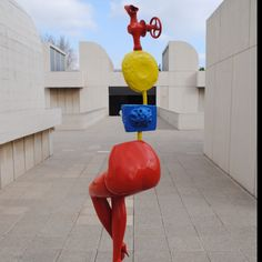 Miro roof sculpture at the Miro Museum in Barcelona