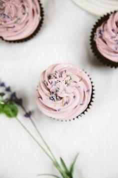 Vegan Chocolate Lavender Cupcakes (Gluten-free Option) via @wallfloweraimee