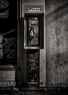 Payphone wall art - photograph - phone booth no 9 by brian carson. Black And White Picture Wall, Black And White Wallpaper, Dark Wallpaper, Black N White, Black And White Pictures, Gray Aesthetic, Black Aesthetic Wallpaper, Black And White Aesthetic, White Aesthetic Photography
