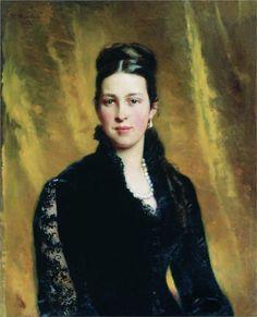 Female Portrait, 1883  Konstantin Makovsky