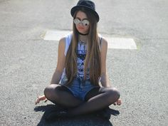 Shop this look on Kaleidoscope (shirt, shorts, hat, sunglasses)  http://kalei.do/WmWIpOhp16yW2syx