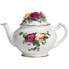 Roses Rose Bouquet Teapot