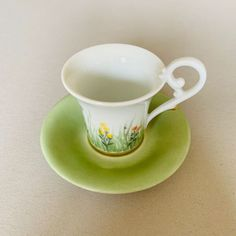 Espressotasse Frühling Tea Cups, Porcelain, Tableware, Gifts, Men, Glee, Porcelain Ceramics, Dinnerware, Presents