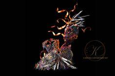 CHOICES series, Lola Plem #female #bust  #series #copper #metal #sculpture #art #kintsugi
