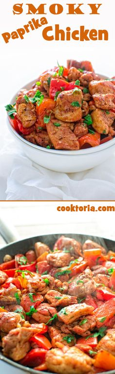 This quick and flavor-filled smoky chicken seared with bell peppers makes a perfect 30-minute dinner! ❤ COOKTORIA.COM