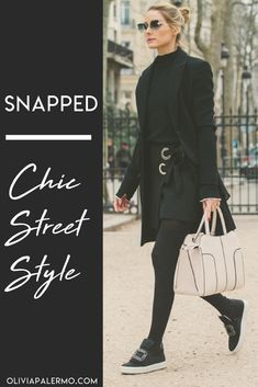 Olivia exudes chic street style in this out-of-the-box ensemble.