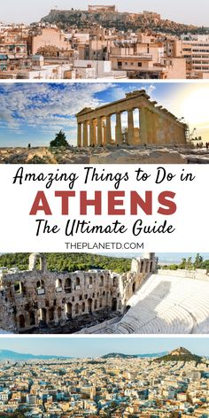 21 top things to do in Athens Greece. A travel guide to the highlights including the Acropolis Lycabettus Hill Temple of Poseidon Mars Hill and more. A guide to the top ancient sights luxury shopping best hotels and local food. Travel Essentials, Airplane Essentials, Travel Tips, Travel Plan, Travel Guides, Myrtos Beach, Zakynthos, Stuff To Do, Things To Do