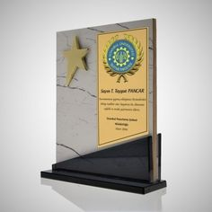 Sports Trophies, Custom Trophies, Wooden Award, Trophy Design, Istanbul, Bookends, Blue, Home Decor, Licence Plates