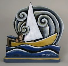 by folk artist Mary Michael Shelley. She carves and paints.