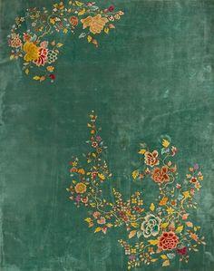 "east-x-east:  #256 Chinese Art Deco carpet 8'10"" x 11'3"" circa 1920"