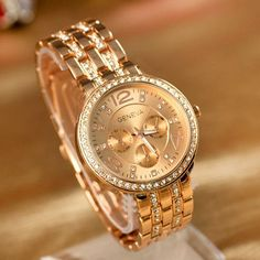 """Feature: Classic and fashionable Wrist Watch! Alloy strap design, look noble. Suitable for Both Men and women. A good choice for gift or decoration. A fashion and useful accessory to bright up your lo  Use Code """"Pin10 """"and get 10% off your purchase! Hurry This Discount Expires in 2 Days!"""
