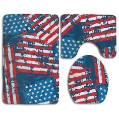 USA American Flag Patriotic 3 Piece Bathroom Rugs Set Bath Rug Contour,  #American #Bath #bathroom #Contour #Flag #Patriotic #Piece #Rug #Rugs #Rugsusabathroom #Set #USA Bathroom Rug Sets, Rugs Usa, Bath Mat Sets, American Flag, Contour, 3 Piece, Toilet, Washing Machine, Best Gifts