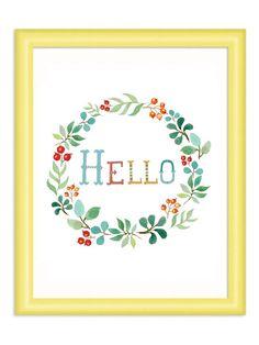 Hello Art Print -  Home Decor