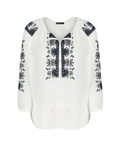 Blouse broderies ethniques