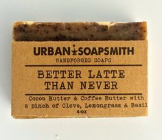 Homemade Coffee Soap Kitchen Soap with Cocoa by UrbanSoapsmith