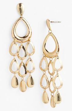 Nordstrom Waterfall Earrings Gold from Nordstrom on Catalog Spree