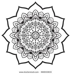 Abstract Hand drawn Mandala circle. Arabic, indian, turkish culture decoration style. Vector Illustration