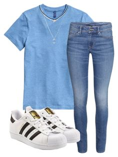 """""""Untitled #171"""" by kingrabia on Polyvore featuring H&M and adidas Originals"""